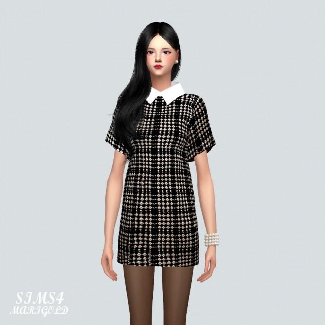 Sims 4 H Line Dress at Marigold