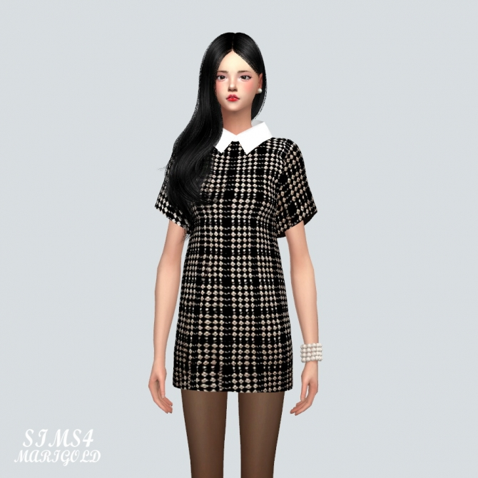 H Line Dress At Marigold 187 Sims 4 Updates