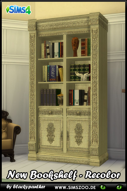 Royal Set Bookshelf by blackypanther at Blacky's Sims Zoo image 7123 Sims 4 Updates