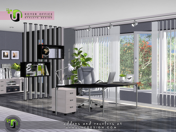 Rover Office by NynaeveDesign at TSR image 7124 Sims 4 Updates