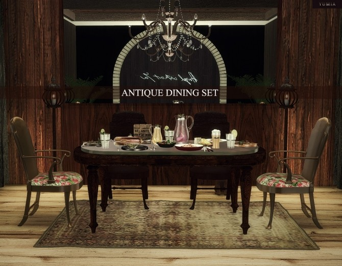 Antique Dining Set (11 Items Included) At YUMIAu0027S PLACE