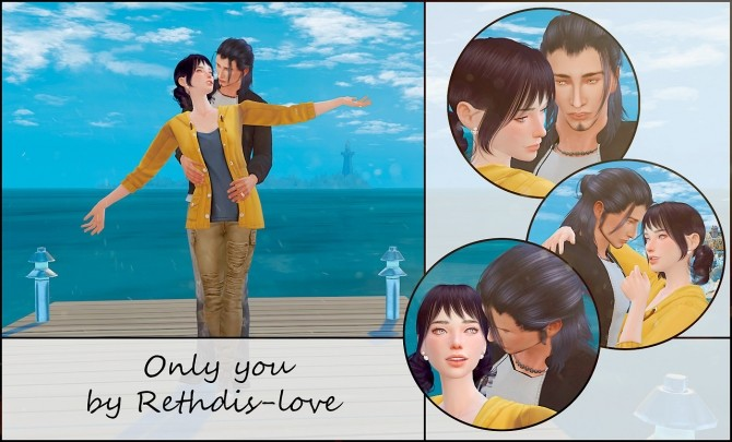 Only you posepack at Rethdis love image 719 670x405 Sims 4 Updates