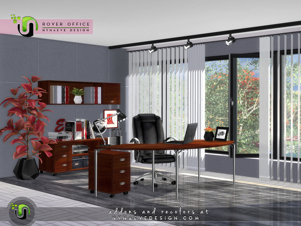 Rover Office by NynaeveDesign at TSR image 7222 Sims 4 Updates