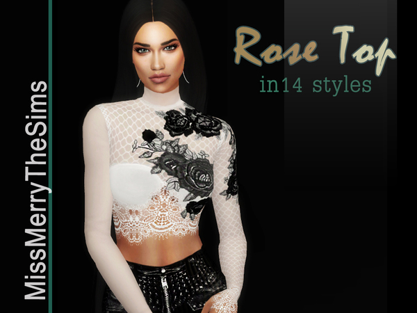 Rose Blouse by Maria MissMerry at TSR image 729 Sims 4 Updates