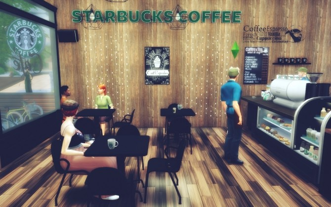 Starbucks Willow Greek at MSQ Sims image 738 670x419 Sims 4 Updates
