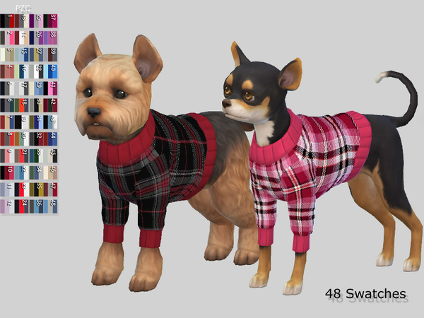 Small Dog Sweaters Collection by Pinkzombiecupcakes at TSR image 7514 Sims 4 Updates