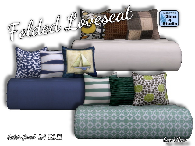 Folded Loveseat by Oldbox at All 4 Sims image 7516 Sims 4 Updates