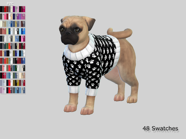 Small Dog Sweaters Collection by Pinkzombiecupcakes at TSR image 7615 Sims 4 Updates