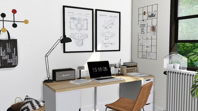 Sims 4 New office set at MXIMS