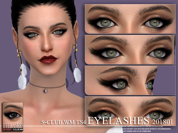 Eyelashes 201801 by S Club WM at TSR image 803 Sims 4 Updates