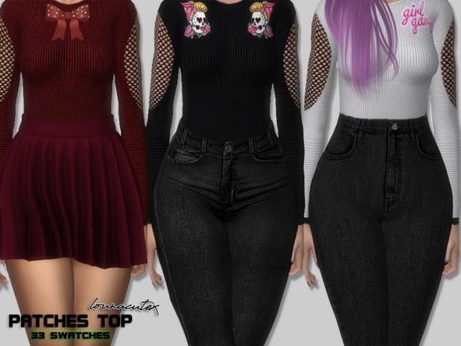 Sims 4 Patches Top at Lounacutex
