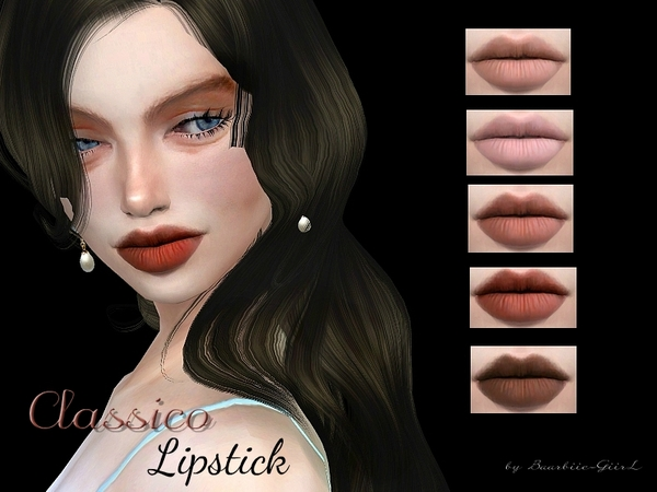 Classico Lipstick by Baarbiie GiirL at TSR image 81 Sims 4 Updates
