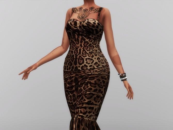 Sims 4 Leopard Print Mid dress at Rusty Nail