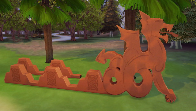 Sims 4 Dragon Valley roof ornament conversion at Valhallan