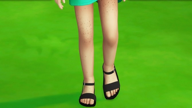 CHILD LBS DOTTIE SANDALS by Thiago Mitchell at REDHEADSIMS image 831 670x377 Sims 4 Updates