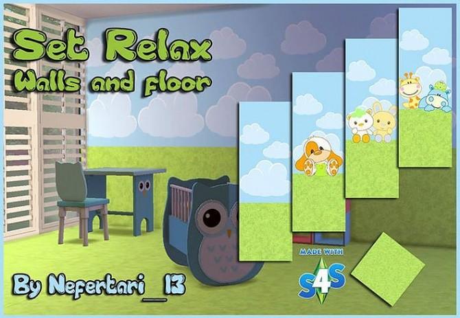 Sims 4 Dream & Relax walls and floors at Nefertari 13