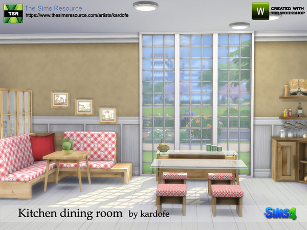 Kitchen dining room by kardofe at TSR image 833 Sims 4 Updates