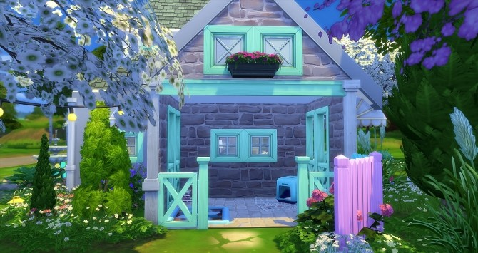 Sims 4 Pastelle house by Angerouge at Studio Sims Creation
