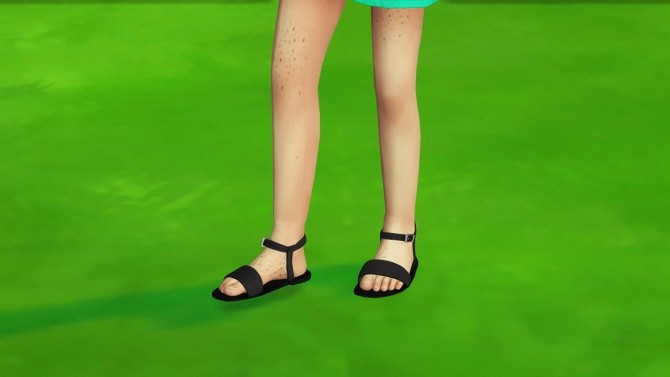 CHILD LBS DOTTIE SANDALS by Thiago Mitchell at REDHEADSIMS image 841 670x377 Sims 4 Updates