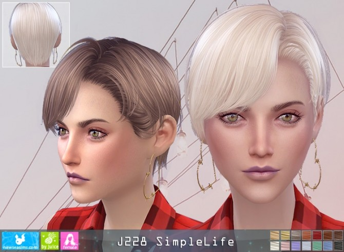 Sims 4 J228 SimpleLife hair F (P) at Newsea Sims 4