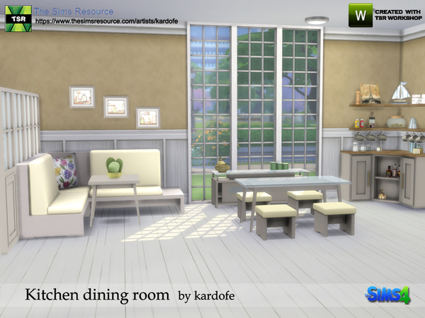 Kitchen dining room by kardofe at TSR image 843 Sims 4 Updates