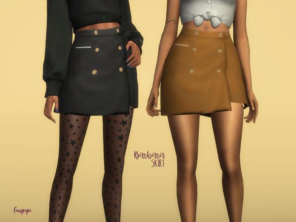 Sims 4 Barbara Skirt by laupipi at TSR
