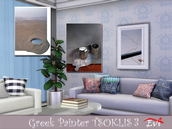 The Greek painter Tsoklis K3 by evi at TSR image 85 Sims 4 Updates