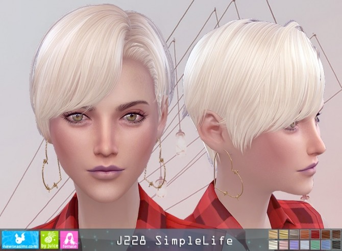 J228 SimpleLife hair F (P) at Newsea Sims 4 image 8513 670x491 Sims 4 Updates