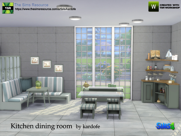 Kitchen dining room by kardofe at TSR image 853 Sims 4 Updates