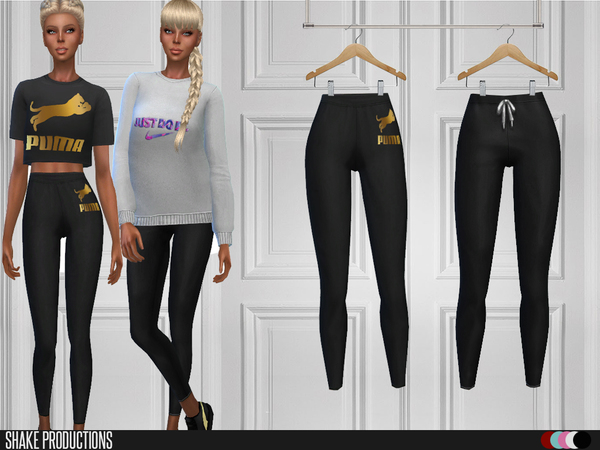 Sims 4 2 tops and 2 leggings by ShakeProductions at TSR