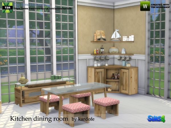 Kitchen dining room by kardofe at TSR image 863 Sims 4 Updates