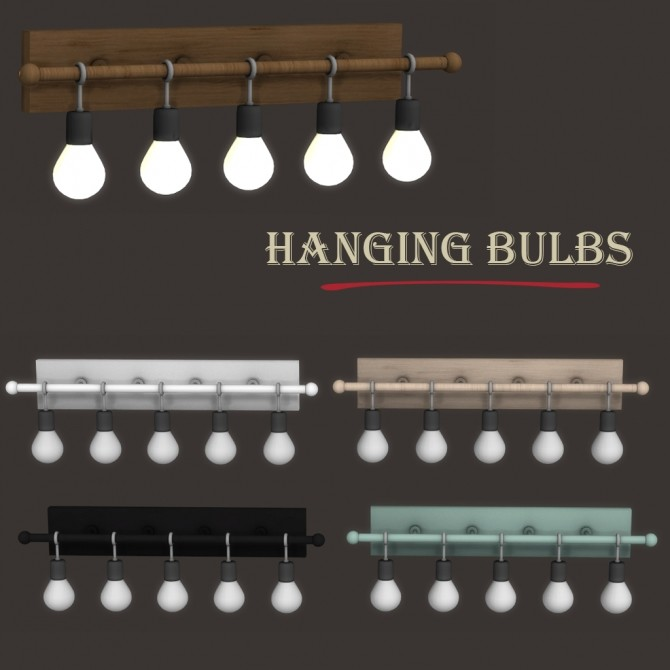 Hanging Bulbs at Leo Sims image 8714 670x670 Sims 4 Updates