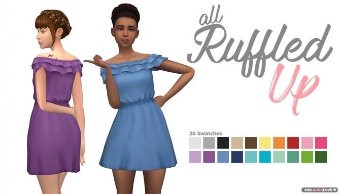 All Ruffled Up dress at SimLaughLove image 8812 670x384 Sims 4 Updates