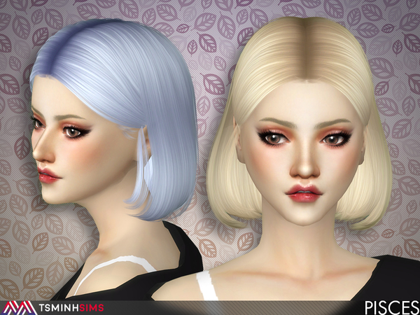 Sims 4 Pisces Hair 52 by TsminhSims at TSR