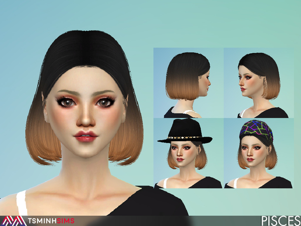 Pisces Hair 52 by TsminhSims at TSR image 893 Sims 4 Updates