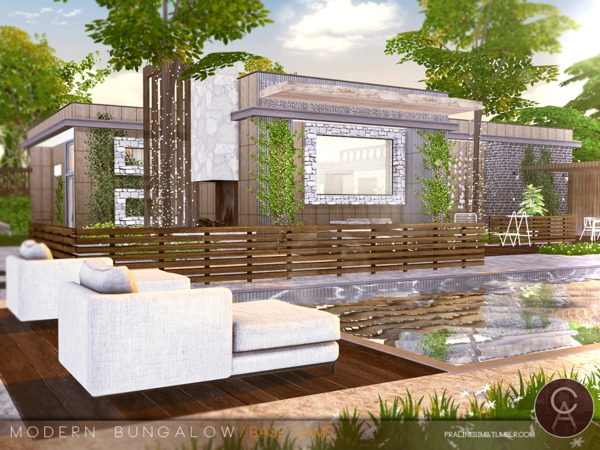 Modern Bungalow by Pralinesims at TSR image 91 Sims 4 Updates
