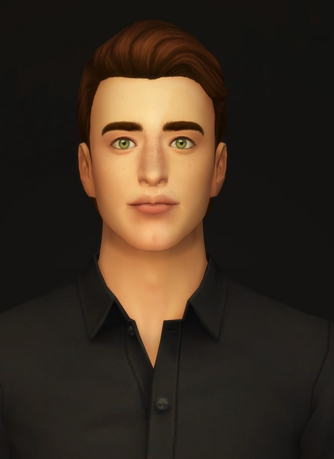 Sims 4 GP03 Slick back wavy hair edit at Rusty Nail