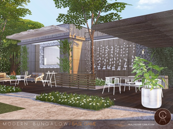 Modern Bungalow by Pralinesims at TSR image 92 Sims 4 Updates