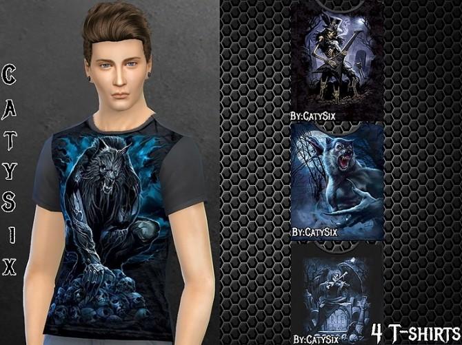 Werewolf & Misc T shirts at CatySix image 922 670x501 Sims 4 Updates