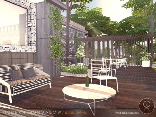 Modern Bungalow by Pralinesims at TSR image 93 Sims 4 Updates