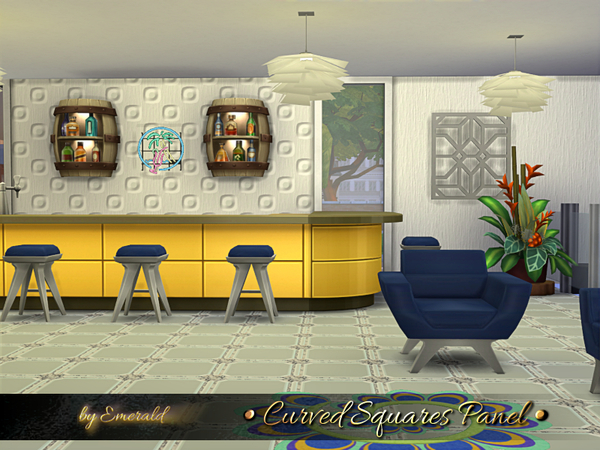 Sims 4 Curved Squares Panel by emerald at TSR