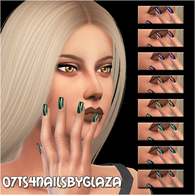 Nails #07 at All by Glaza image 9414 Sims 4 Updates