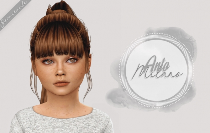 Anto Milano Hair Kids Version At Simiracle 187 Sims 4 Updates