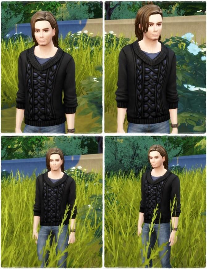 Sims 4 Tyler Hair at Birksches Sims Blog