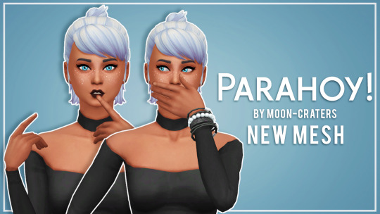 Recolours of Moon Craters Parahoy hair by thalabee at SimsWorkshop image 947 Sims 4 Updates