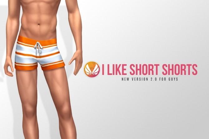 Sims 4 I Like Short Shorts V2 remake by Peacemaker ic at Simsational Designs