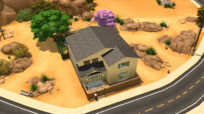 Sims 4 Nyaokami Japanese inspired house by Synathora at Mod The Sims