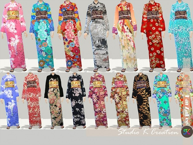 Japanese Kimono At Studio K Creation 187 Sims 4 Updates