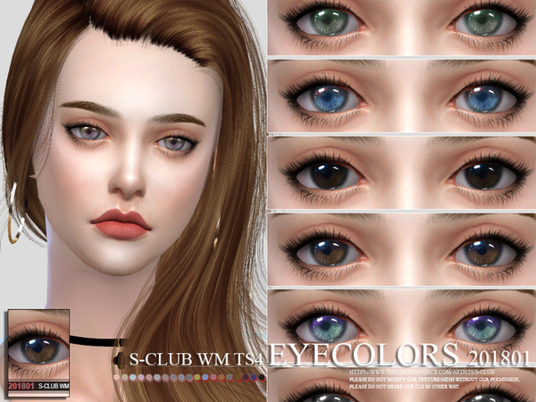 Eyecolors 201801 by S Club WM at TSR image 98 Sims 4 Updates