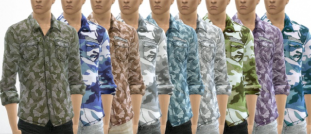 Sims 4 Male shirt and jeans at OleSims